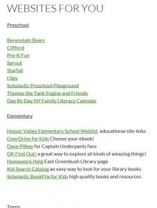 Kid's sites